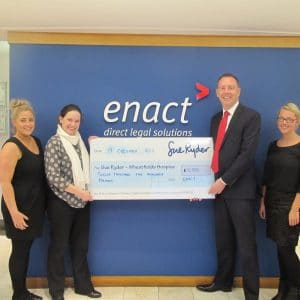 Enact raise over £12,500 for Sue Ryder Wheatfields