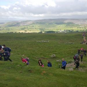 80 members of enact complete the Yorkshire Three Peaks