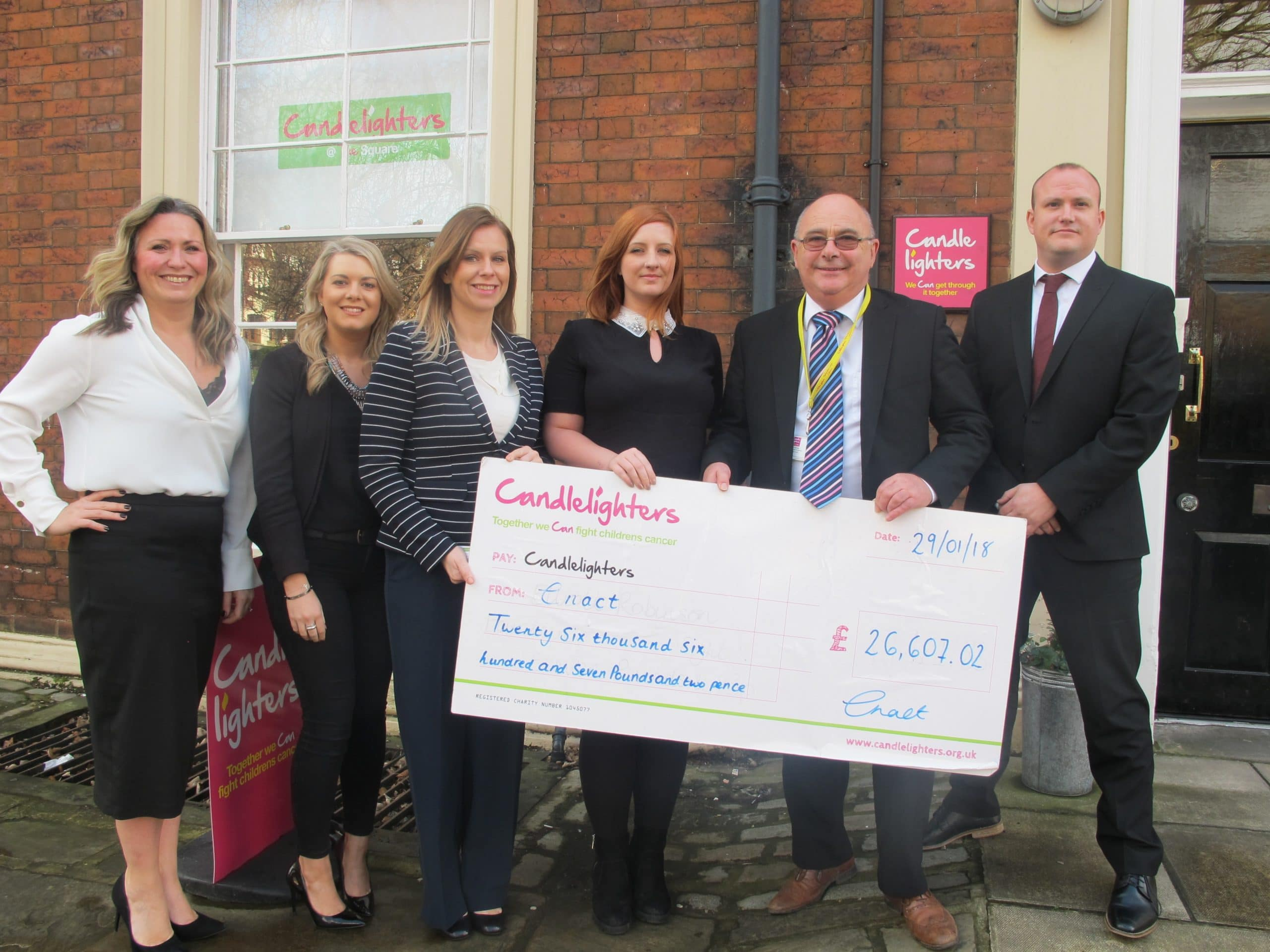 Celebrating Home Candle Fundraiser >> enact raise £26,607 for children's cancer charity Candlelighters