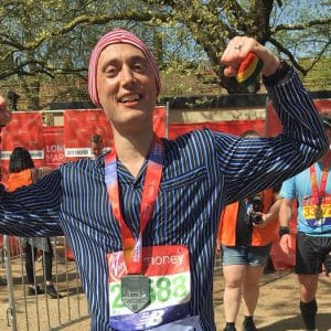 Guinness World Record for fastest marathon dressed in pyjamas