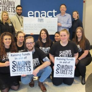 Leeds conveyancing firm raises more than £15K for Simon on the Streets