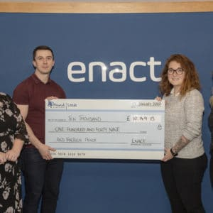 Enact Conveyancing raise over £10,000 for Leeds Mind